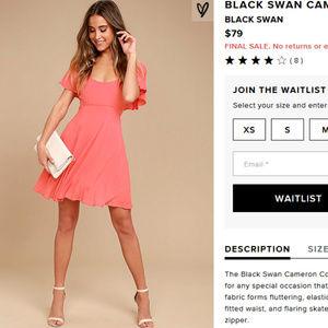 Black Swan Cameron Coral Pink Skater Dress